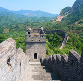 The Great Wall of China (Yellow Cliff). — Stock Photo