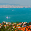 Panoramic view of Bosphorus channel and Istanbul city from the Heybeliada island — Stock Photo #75531123
