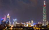 """""""Taipei 101"""" supertall skyscraper in Xinyi District. Taiwan — Stock Photo"""