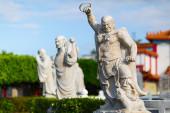 Stein-Statuen im Da Fo buddhistischen Tempel. Chung Cheng Park. Keelung, Taiwan — Stockfoto