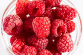 Ripe raspberries close up — Stock Photo