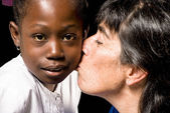 Famille multiraciale — Photo