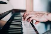 Bir piyanist elleri — Stok fotoğraf