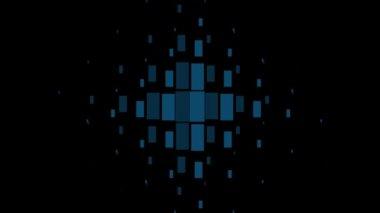 Geometric hipster retro background. — Stock Video