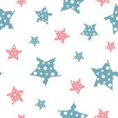 Vektor sanfte Jahrgang nahtlose Muster mit Sternen. — Stockvektor