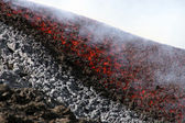 Lava flow on etna volcano — Stock Photo