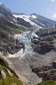 Glacier in the Swiss alps — Stock Photo