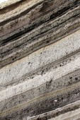 Rock Layers of Volcano Cotopaxi — Stock Photo