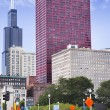 View of CNA Plaza and Willis Tower — Stock Photo #76224789