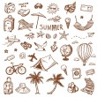 Hand drawn travel icons set. — Stock Vector #73363499