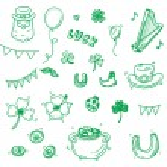 Saint Patrick day icons doodle set — Stock Vector #73363911