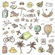 Hand drawn travel icons set.  — Stock Vector #73364699