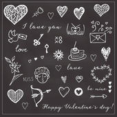 Happy Valentines card background. — Stock Vector