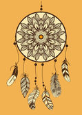 Hand drawn watercolor dreamcatcher — Stock Vector