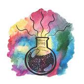 Creative hand drawn chemistry illustration. — Stock Vector