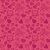Valentines day hand drawn background — Stock Vector