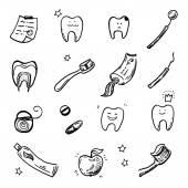 Dentist tools icons — Vettoriale Stock