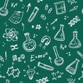 Hand Drawn Chemistry seamless pattern.  — Stock vektor