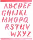 Red oil painting alphabet. — ストックベクタ