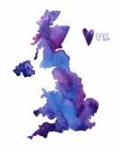 Hand drawn UK map. — Stock Vector