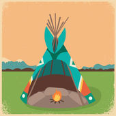 Indian wigwam Illustration — Stock Vector