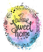 Sweet home lettering quote — Stock Vector