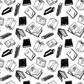 Hand drawn books pattern — 图库矢量图片