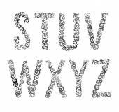 Alphabet letters set — Stock Vector