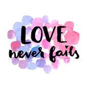 Love never fails. — Stock Vector