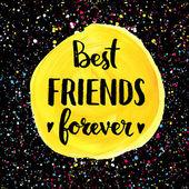 Best friends forever. — Stock Vector