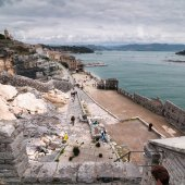 Portovenere, view from San Peter's Church — Stock Photo