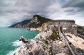 Portovenere, view of the pillbox from San Peter's Church — Stock Photo