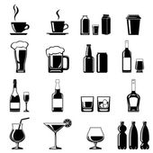 Drinks icons set — Stock Vector