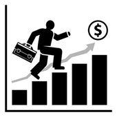 Rich success man — Stock Vector
