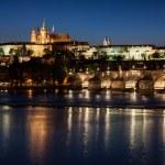Prague view at night — Stock Photo #73614129
