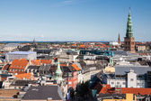 """Cityscape of Copenhagen from the """"Round Tower"""" — Stock Photo"""