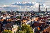 """Cityscape of Copenhagen from the """"Round Tower"""" . — Stock Photo"""