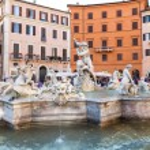 Neptune Statue in Piazza Navona in Rome, Italy — Stock Photo #73909877