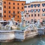 Neptune Statue in Piazza Navona in Rome, Italy — Stock Photo #73909905