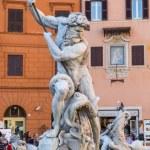 Neptune Statue in Piazza Navona in Rome, Italy — Stock Photo #73909953