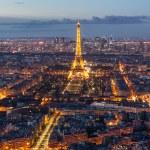 Skyline of Paris at night — Stock Photo #73913397