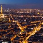 Skyline of Paris at night — Stock Photo #73913425