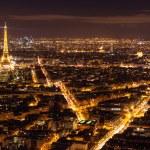 Skyline of Paris at night — Stock Photo #73913509
