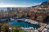 Monte Carlo skyline, French Riviera — Stock Photo