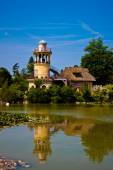 The Marlborough Tower in the Queen's Hamlet (Hameau de la Reine) in Versailles. — Stock Photo