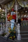 Disneyland Paris during Halloween Celebrations, dettail of ghost — Stock Photo