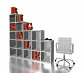 3d red text  BIG SALE — Stock Photo