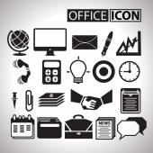 Office icon for bussiness — Stock Vector
