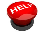 Red help button buzzer — Stock Photo