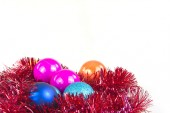 Christmas decoration christmas tree balls isolated on a white background — Foto Stock